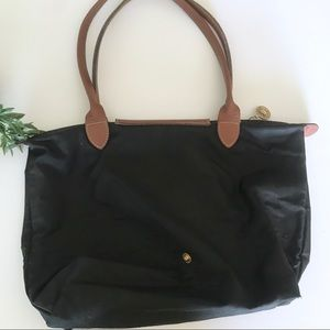Longchamp Bags - Longchamp Black Le Pliage Tote Bag